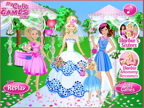 Barbie wedding party dress up game juegos de vestir for Dress up games wedding