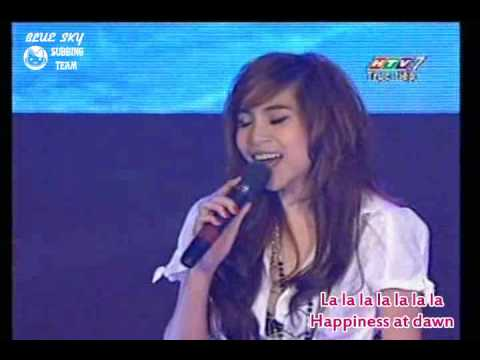 Thuy Tien - Hat Vang Rang Em Yeu Anh (ANCT #4 live) Eng subs/HQ