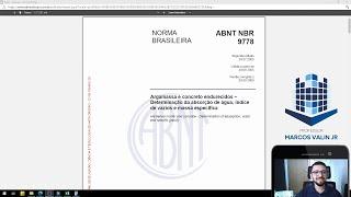 NBR 9778:2005 - Determinação da absorção de água, índice de vazios e massa específica
