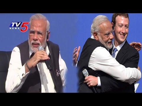 PM Modi And Mark Zuckerberg Townhall Q&A At Facebook HQ | California | Part 2 | TV5 News