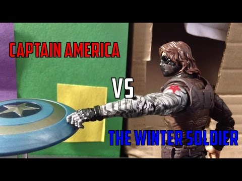 Captain America vs the Winter Soldier [Marvel Stop Motion]