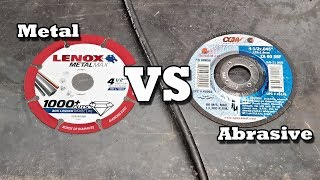 Which Cut Off Blade Is Best Diamond Or Abrasive Youtube
