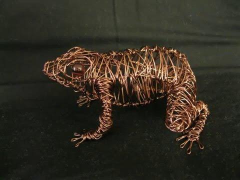 Frog Wire Sculpture