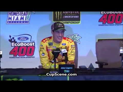 NASCAR at Homestead-Miami Speedway Nov. 2018: Joey Logano post race