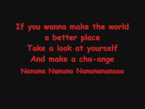 Man In The Mirror - Michael Jackson (Lyrics and Karaoke)