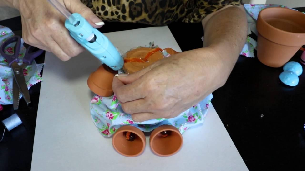 Munecas con macetas de barro youtube - Tiestos de barro ...