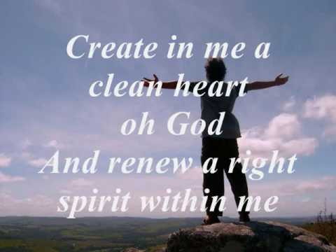 Image result for image create in me a clean heart