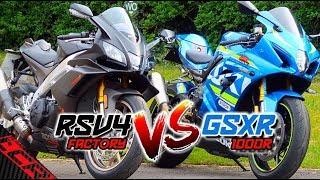 Which IS The Best Road Bike? | RSV4 1100 Factory or GSXR-1000R?