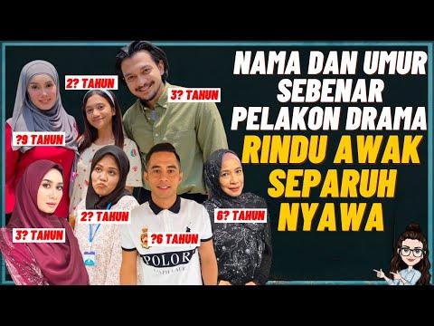 Nama Dan Umur Sebenar Pelakon Drama Rindu Awak Separuh Nyawa (Shukri Yahaya, Uqasha Senrose)