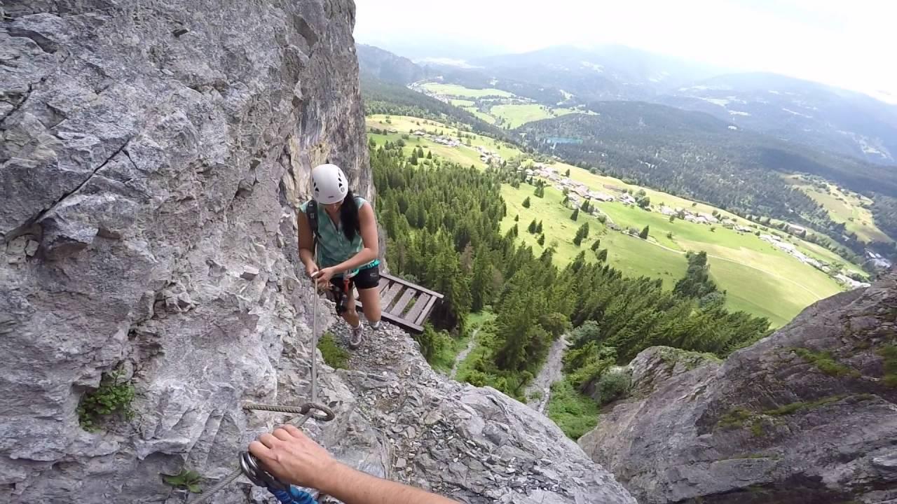 Klettersteig Pinut : Klettersteig pinut youtube
