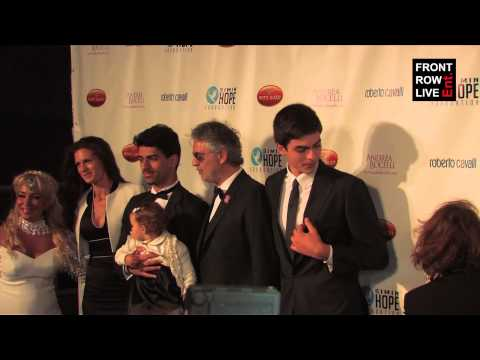 Andrea Bocelli & family celebrate Fathers Day in Hollywood