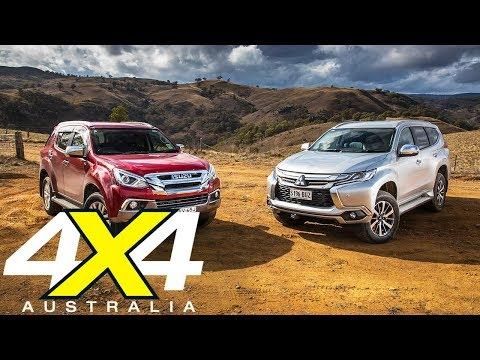 2018 Isuzu MU-X vs Mitsubishi Pajero Sport 4x4 comparison review | 4X4 Australia