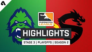 Vancouver Titans vs. Shanghai Dragons | Overwatch League S2 Highlights - Stage 3 Playoffs Day 3