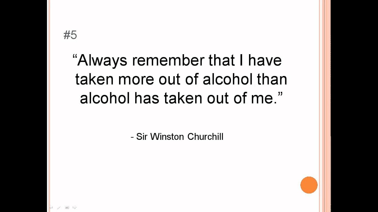 Quotes About Alcohol Alcohol Quotes  My Top 10 Favourite Alcohol Quotes  Youtube