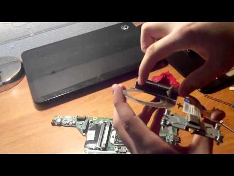 Как поменять термопасту на ноутбуке HP Pavilion g6