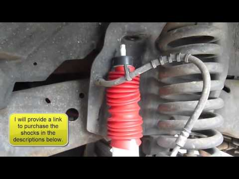 How to Replace the Front Shocks on a Ford F250/350