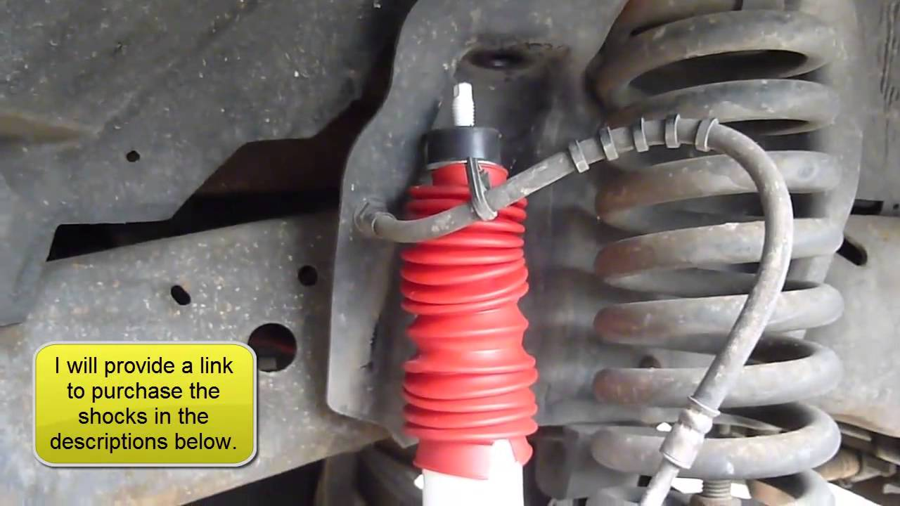 How to Replace the Front Shocks on a Ford F250350  YouTube
