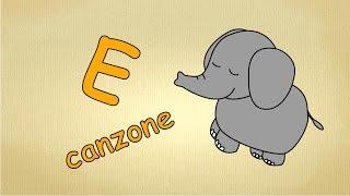Alfabeto italiano per bambini canzone - La lettera E canzone / Impara canzoni l'italiano per bambini