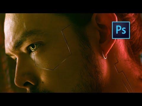 Как сделать ИМПЛАНТЫ из CyberPunk 2077 в Photoshop !