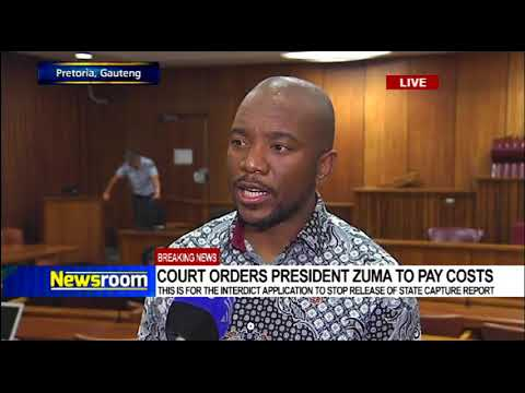Maimane's reaction to court ordering Pres. Zuma to pay costs