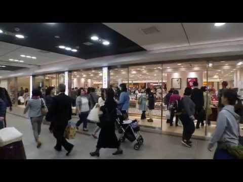 yaesu underground shopping center in the tokyo station jp   weekday some minutes before 17 o'clock