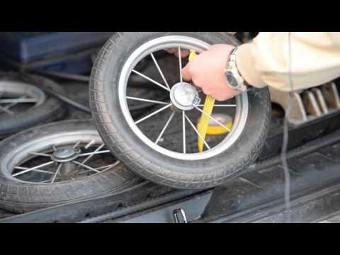 Как накачать колёса с нестандартным ниппелем.