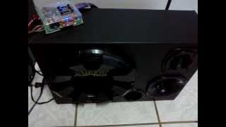 "Soundigital SD250.2 + 1 Spyder Street 12"" + 1 ST + 1 Corneta [CETREL AUTO SOM]"