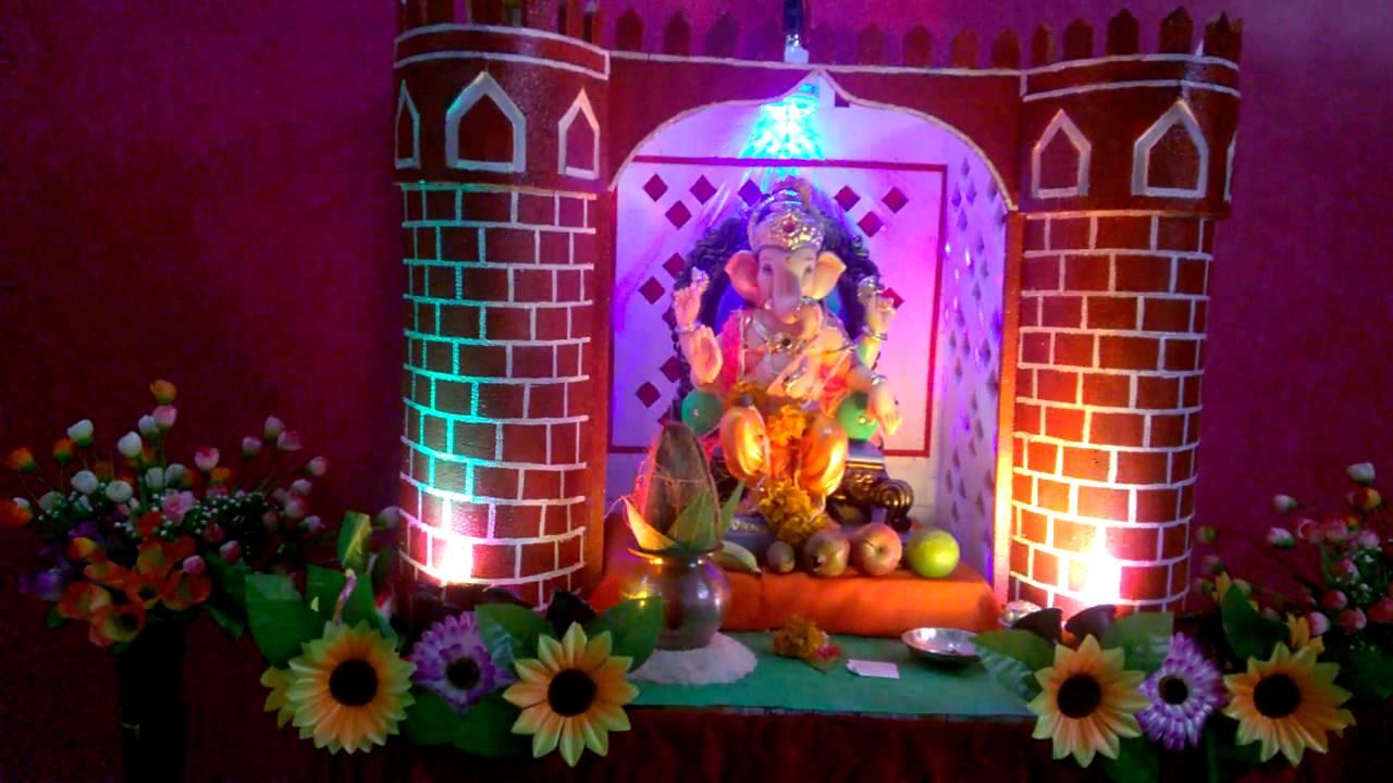 Ganpati Decoration Nitin Home 2015 Youtube