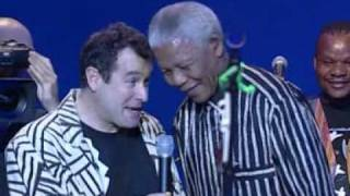 johnny clegg with nelson mandela asimbonanga 1999 fran