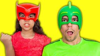 SARAH FINGE BRINCAR com o PAPAI e ELOAH de Super-Heróis 3