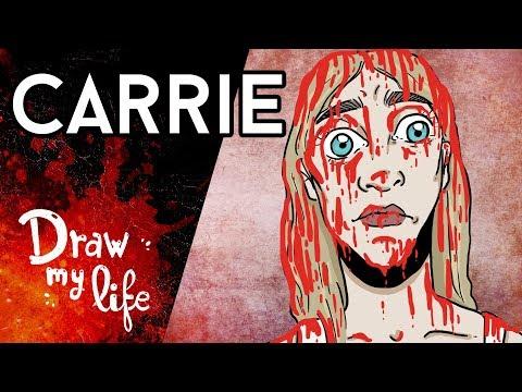 La CENSURADA historia de CARRIE: El clásico de Stephen King - Draw My Life en Español