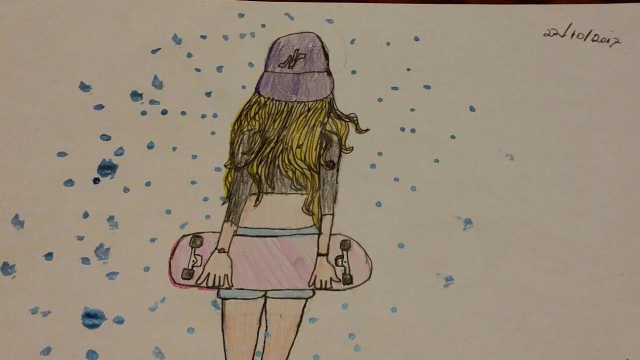 Speed Art Menina Tumblr Cantinhoartistico Carolina Costa