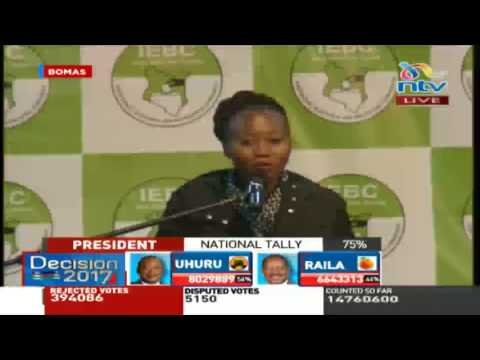 Results captured in the form 34Bs are final - Dr. Roselyn Akombe thumbnail