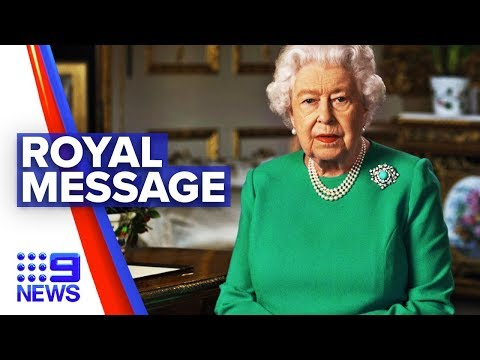 Coronavirus: Queen Elizabeth gives rare coronavirus address | Nine News Australia