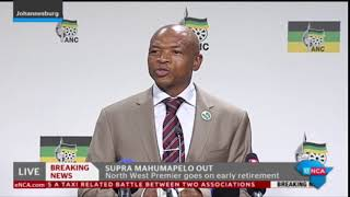 Mahumapelo is resigning as NW Premier