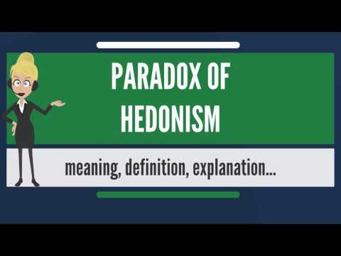 What is PARADOX OF HEDONISM? What does PARADOX OF HEDONISM mean? PARADOX OF HEDONISM meaning