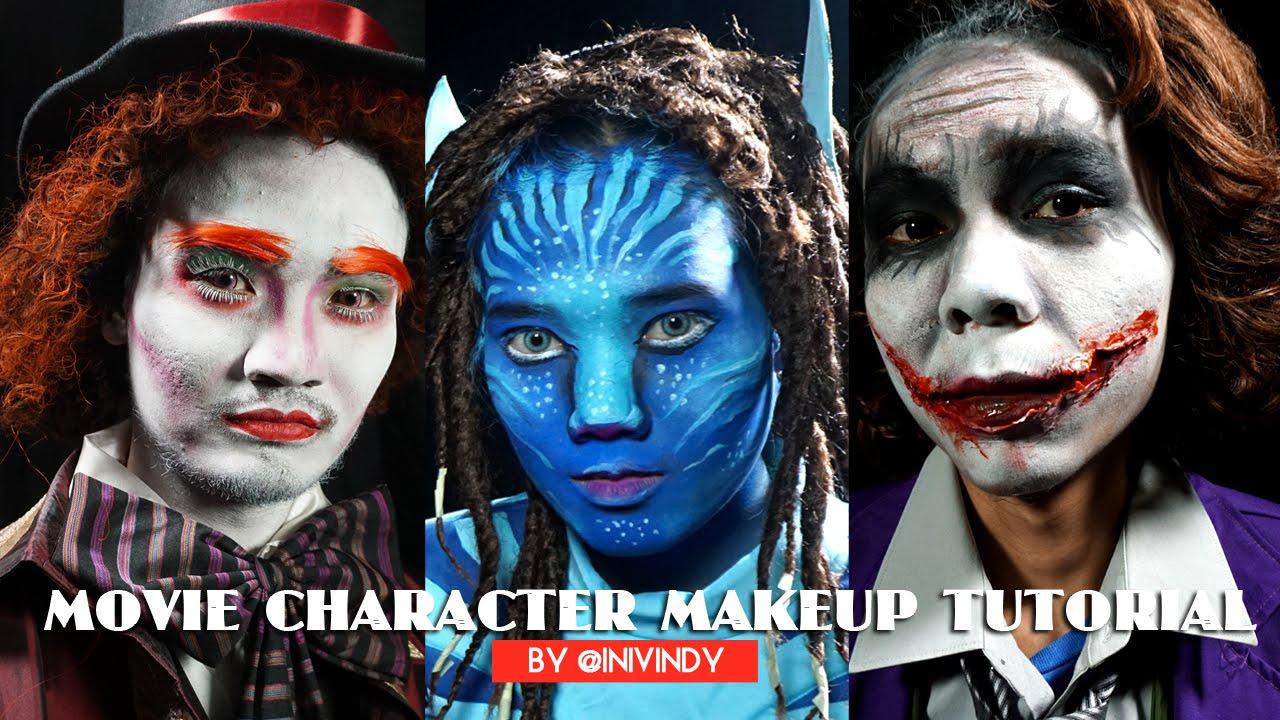 Movie character makeup tutorial avatar joker mad hatter by movie character makeup tutorial avatar joker mad hatter by inivindy youtube baditri Choice Image