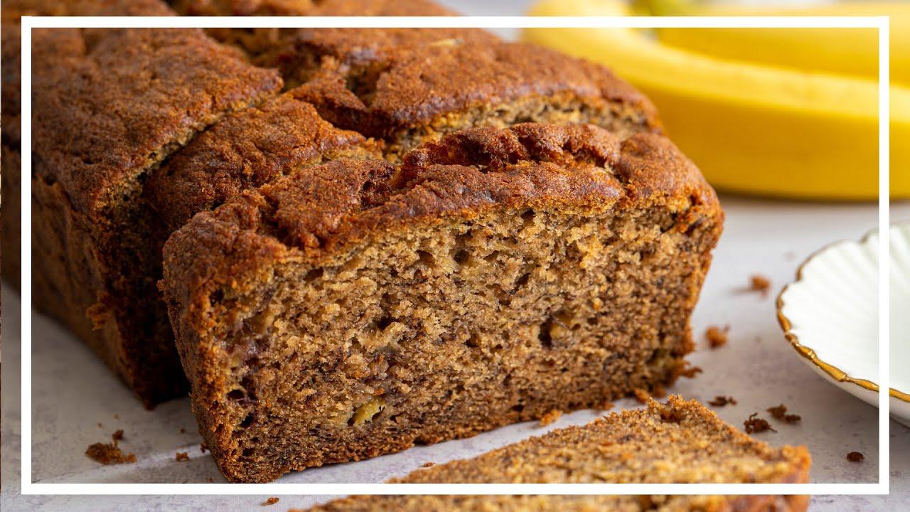 BEST EVER BANANA BREAD RECIPE 🍌Gluten-free, Low FODMAP, dairy-free/vegan   Baking with Becky