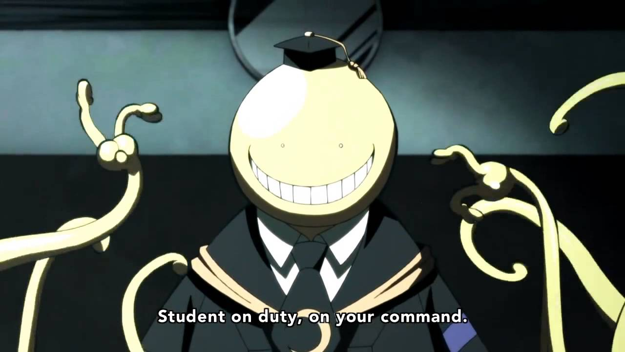 [HD]Assassination Classroom - Dodge bullet like a Korosensei. - YouTube