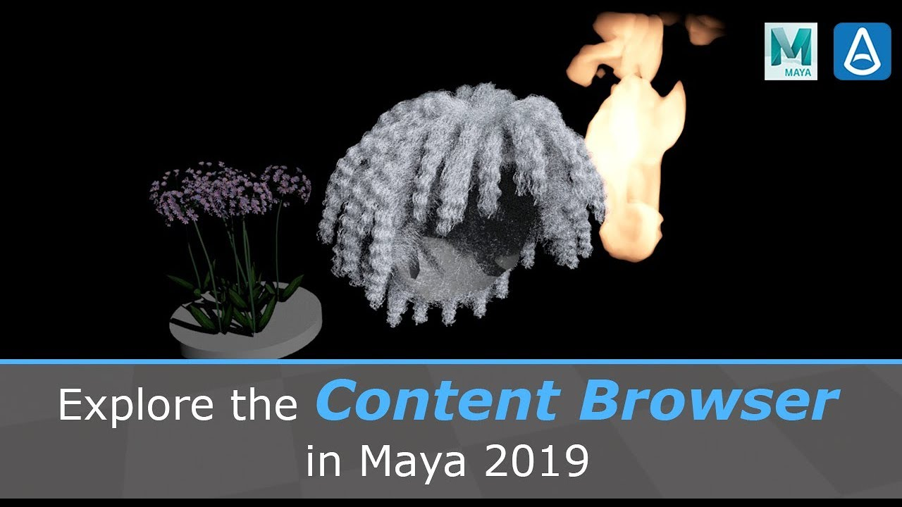 Explore the Content Browser in Maya 2019