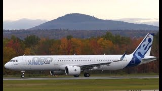 Airbus A321neo [D-AVXA] Landing & Takeoff at Quebec City Airport (YQB)