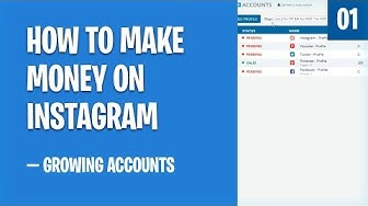 How To Make Money On Instagram — Growing Accounts ($1000+)