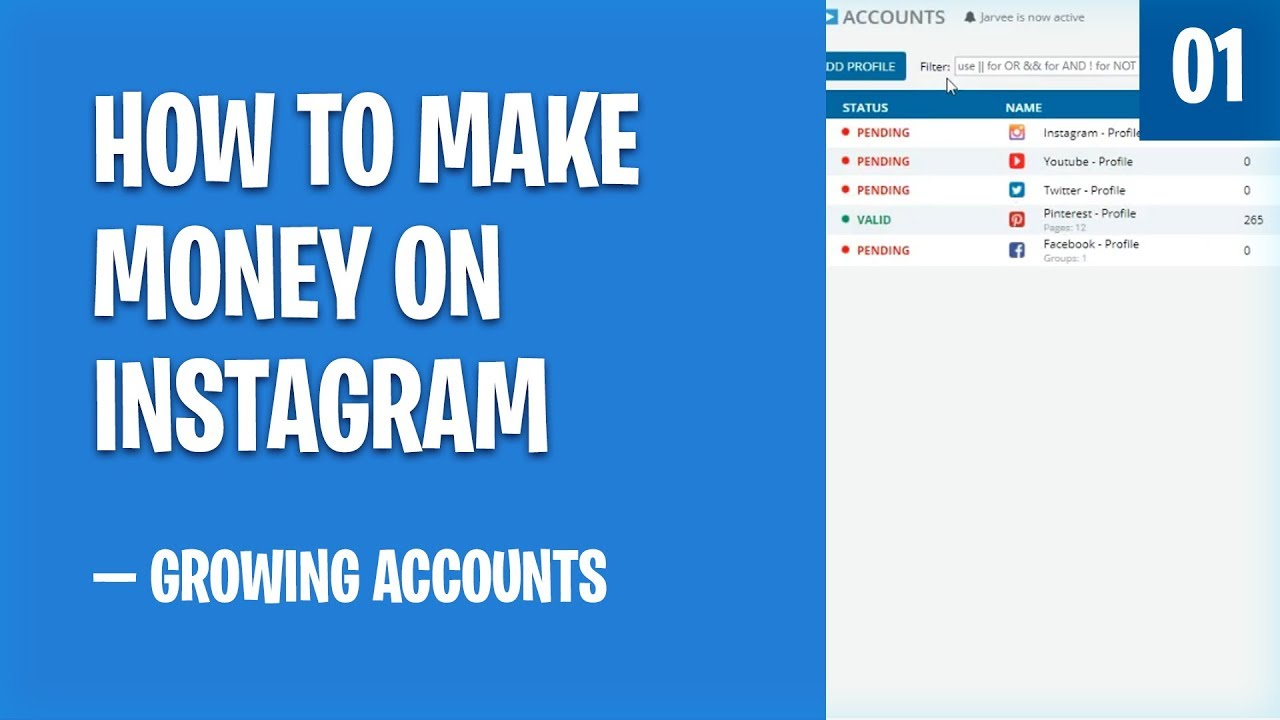How To Make Money on Instagram — Managing Accounts