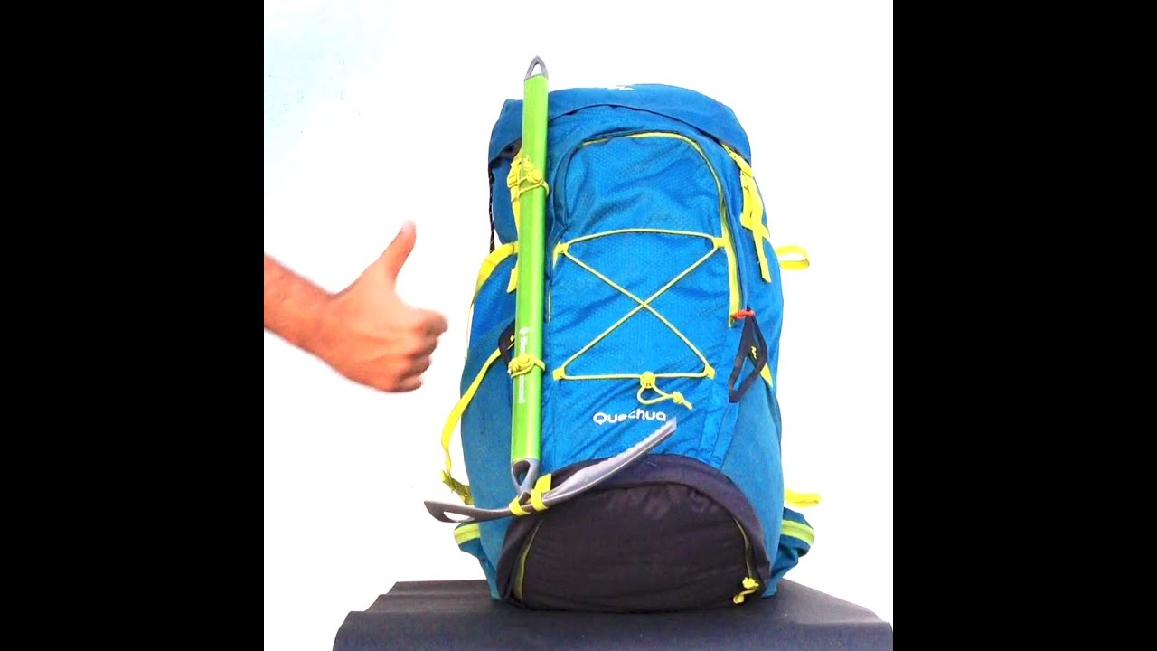 Tip #1 - How to attach an ice axe to a backpack