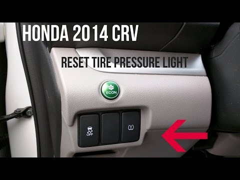 Honda CRV 2014 - How to Turn Off A Tire Pressure Warning Light