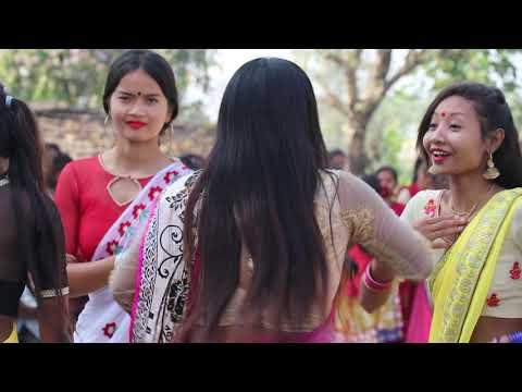 Haraeiya Tharu Girls Dance At Wedding Ceremony(5)