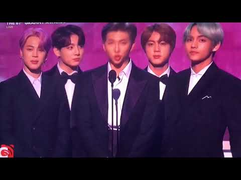 BTS Presenting The Best R&B Album at Grammy Awards 2019