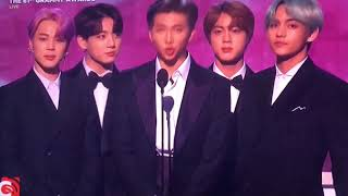 BTS Presenting The Best R&B Album at Grammy Awards 2019