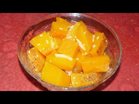 Десерт из запеченной в духовке тыквы.