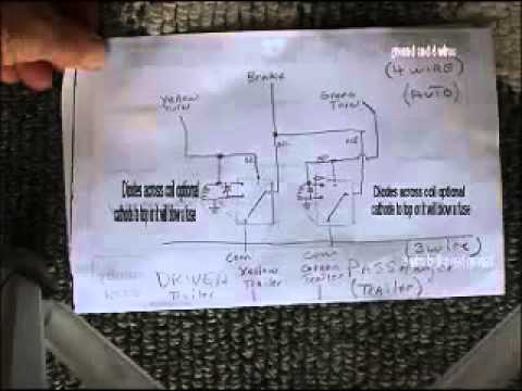 Trailer lighting converter 4 wire to 3 wire system using Radio Shack parts  YouTube